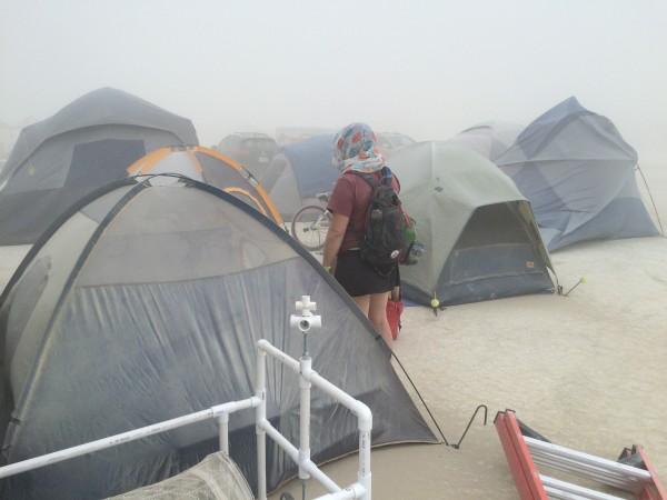 Dusty tents