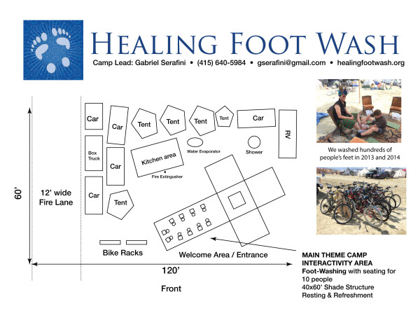 2015 Healing Foot Wash Placement layout