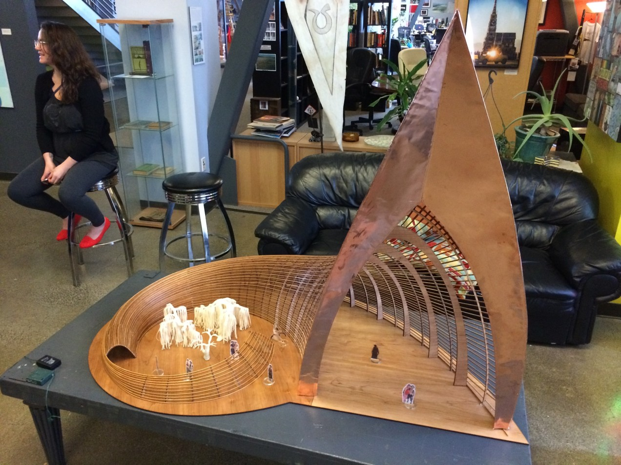 2015 Burning Man temple model