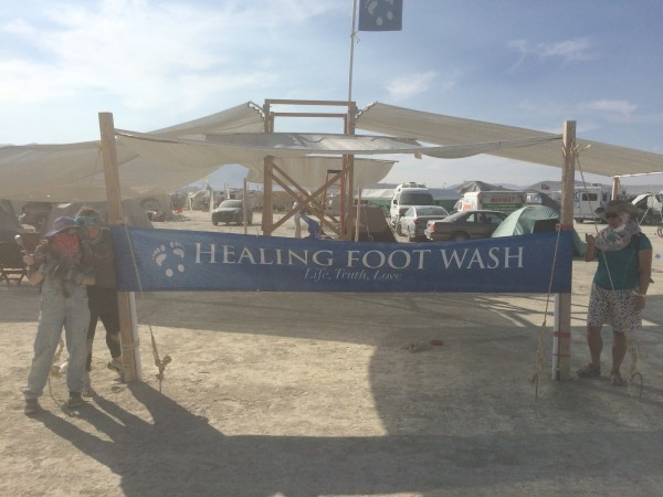 Healing Foot Wash camp setup!